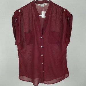 forever 21 red wine sleeveless top